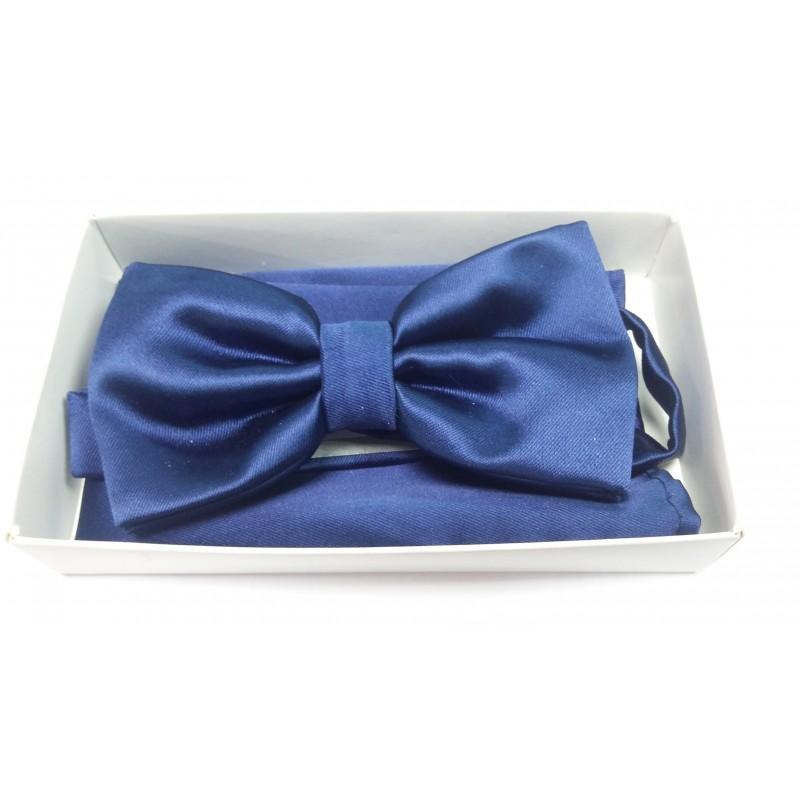 Классическая бабочка для рубашки синяя